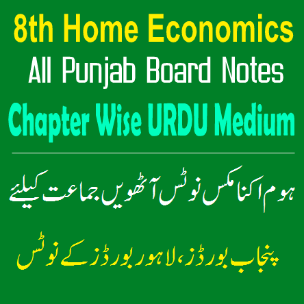 Easy Notes Publishers 8th Class Home Economics Notes In PDF Download