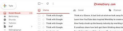 Cara membaca email di Gmail