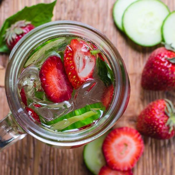 Strawberry Cucumber Basil - Detox Water