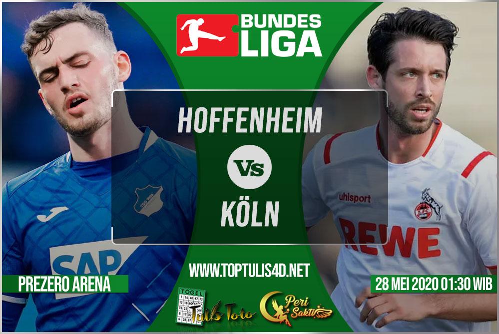 Prediksi Hoffenheim vs Köln 28 Mei 2020