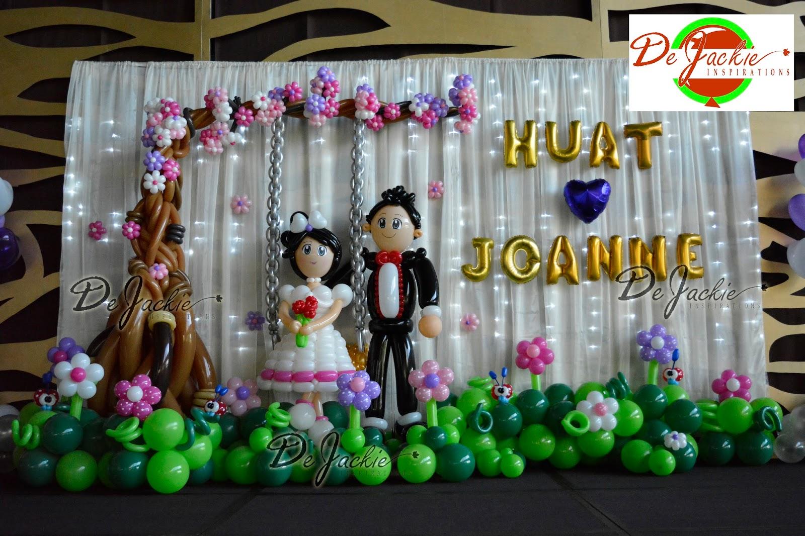 Balloon decorations for weddings birthday parties balloon romantic wedding decoration kts garden kuching junglespirit Gallery