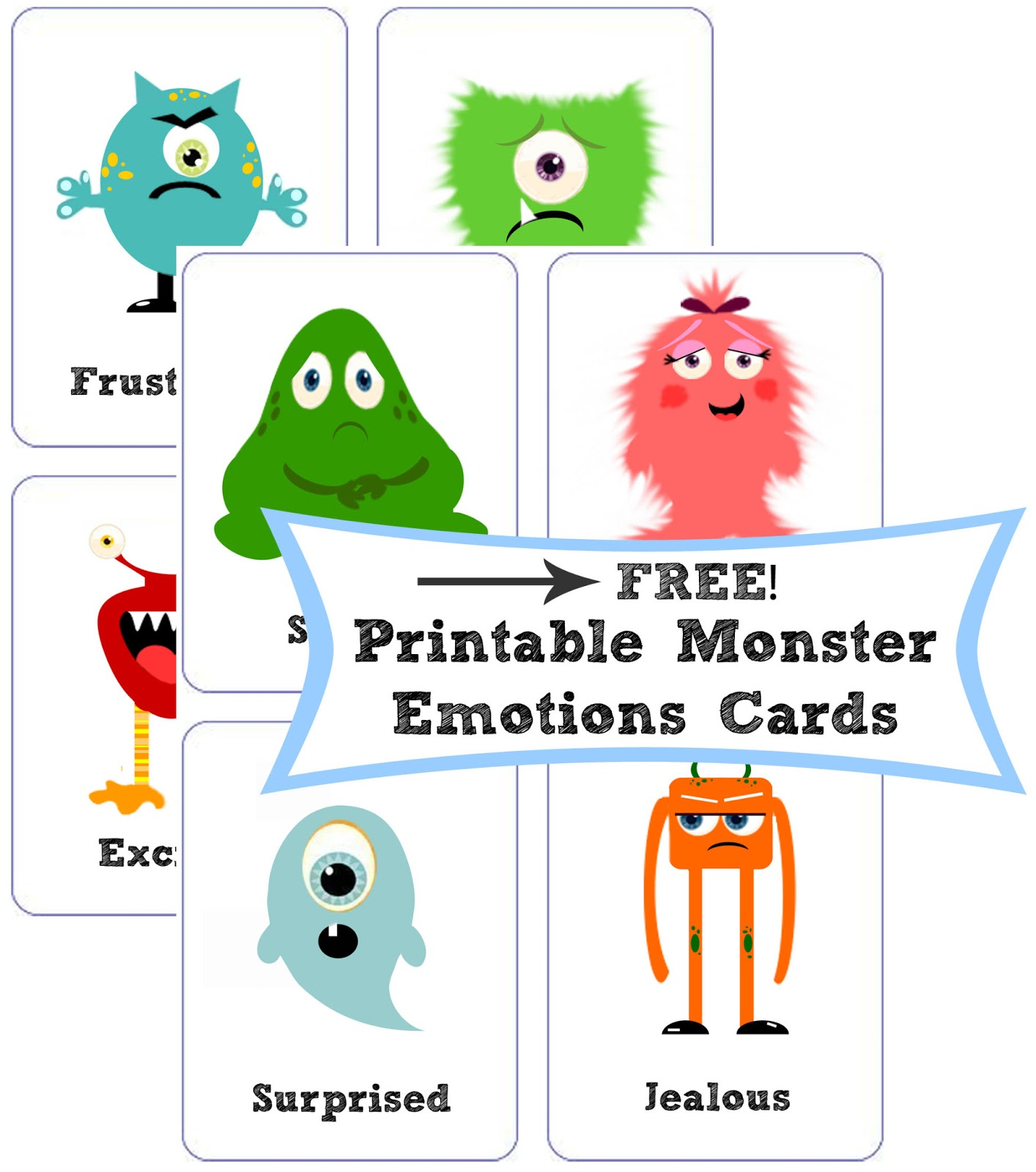 Miss Poppins Free Montessori Emotions Cards