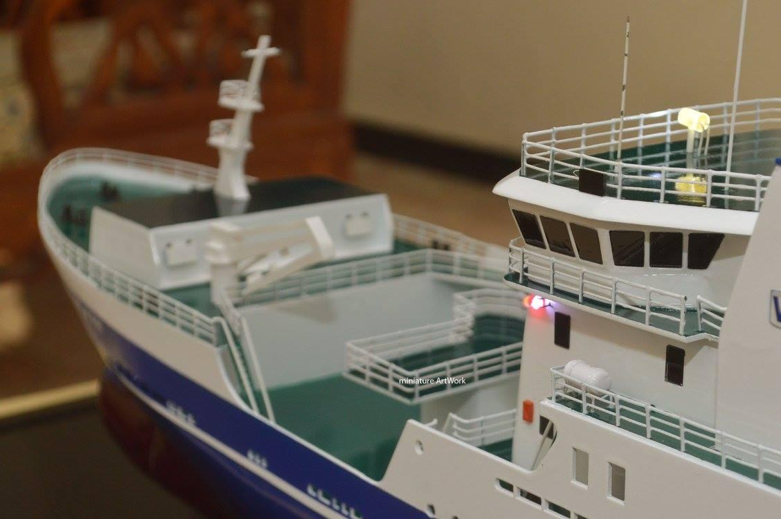 tempat jual maket miniatur kapal penangkap ikan voyager kilkeel fishing trawler n905 berbendera inggris harga murah
