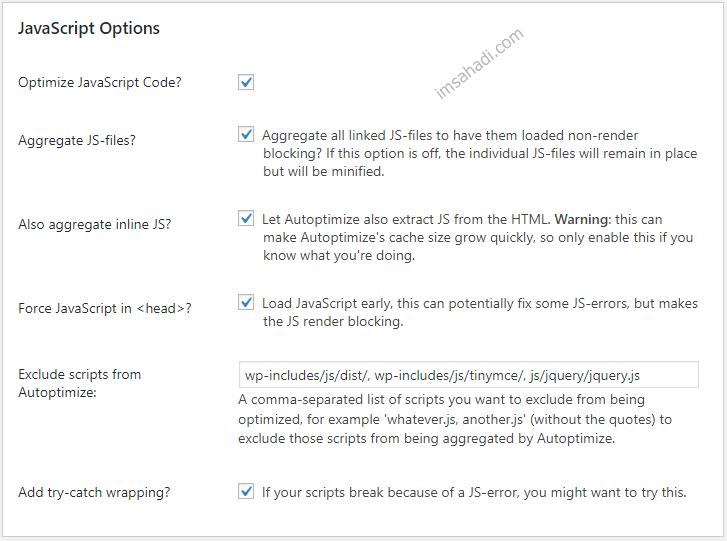 optimalkan javascript