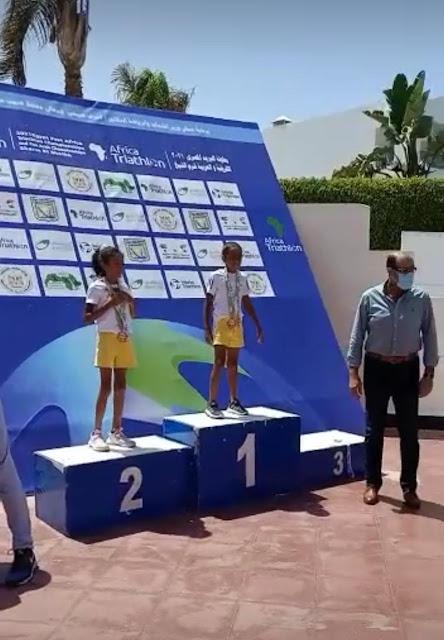 جومانه مشـهور بنت محافظة المنيا تتصدر المركز الثاني للبطولة الدولية الترايثلون 2021 بشرم الشيخ