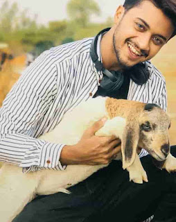Hasnain khan With Animal