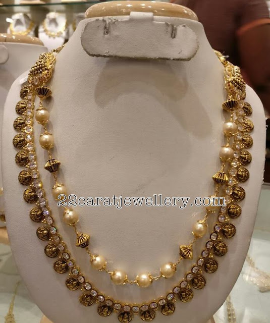 Nakshi Work pearls Long Chain