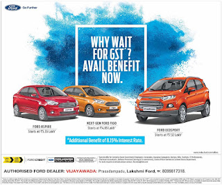 WHY WAIT FOR GST AVAIAL BENEFIT FOR FORD ESCORT