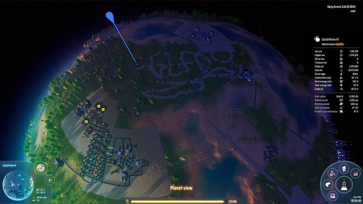 How to choose a starting location in the Dyson Sphere Program