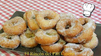 Roscas de sartén con almendra muy esponjosas Receta fácil