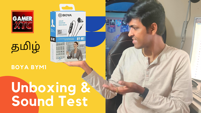 Boya BYM1 Lavalier Microphone Unboxing Tamil | GamerXTC | For Just Rs 17...
