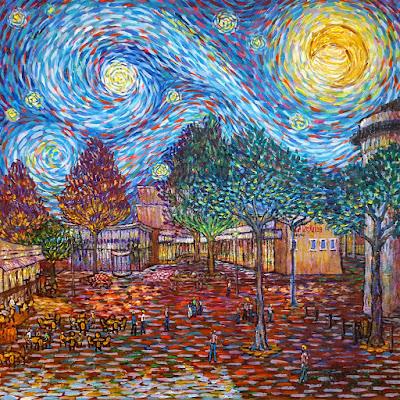 Tongerloplein Roosendaal Like Van Gogh by Erika Stanley
