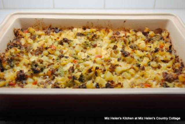 Hash-Brown Broccoli Brunch Casserole at Miz Helen's Country Cottage