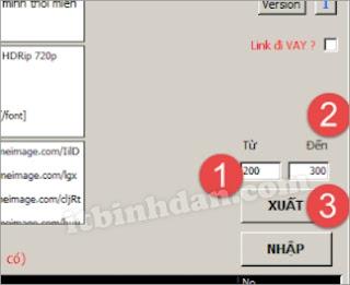 phần mềm quản lý phim - nhập xuất data