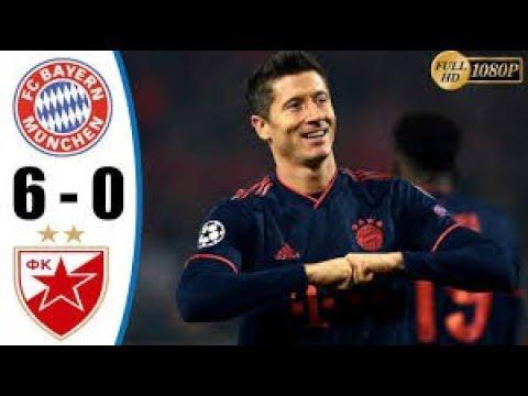 Crvena zvezda 0 - 6 Bayern Munich champions league highlight