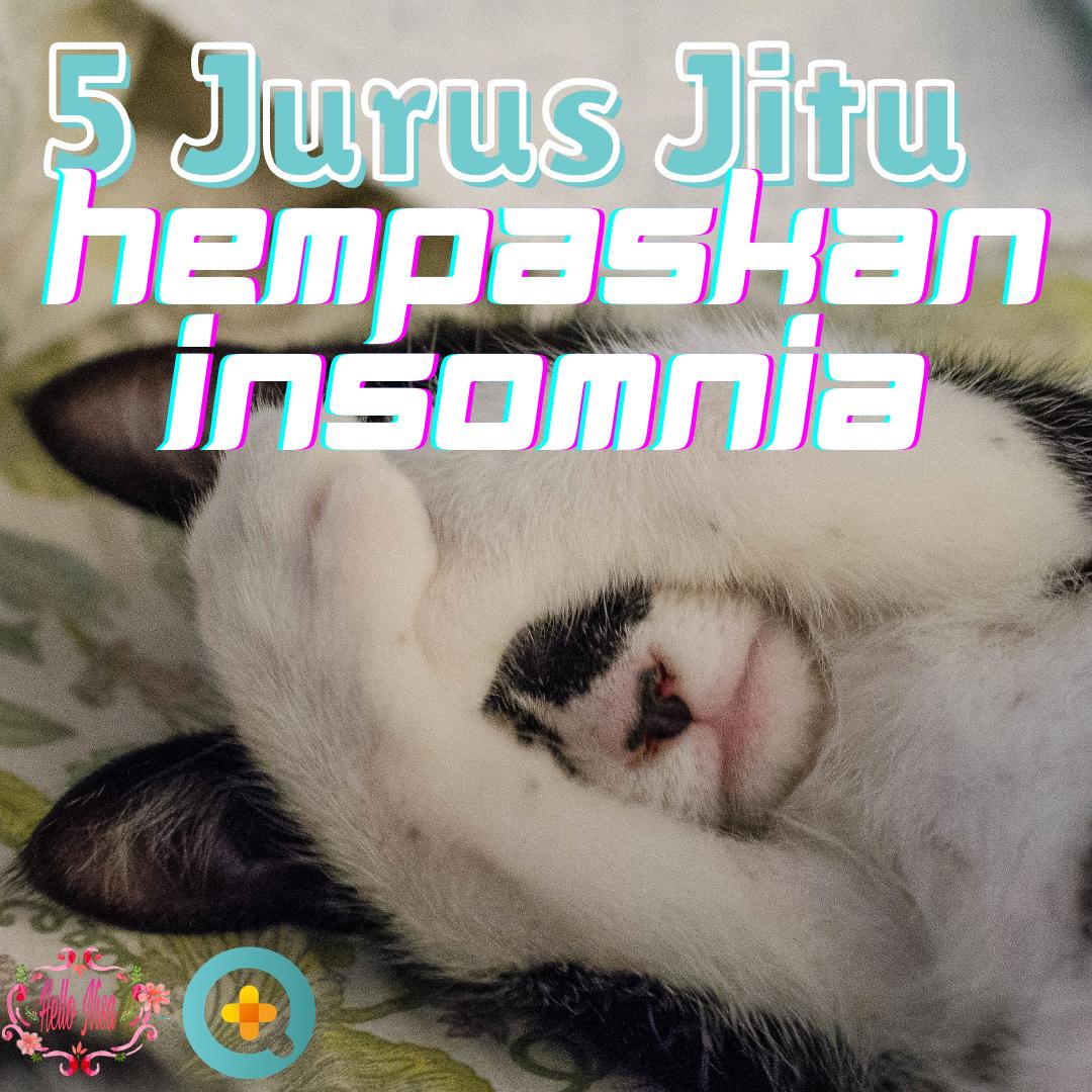 Jurus atasi insomnia