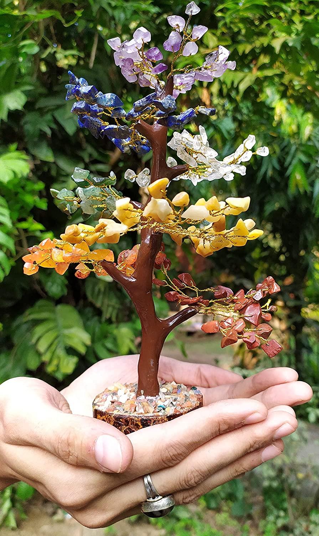 Healing Gemstone Crystal Bonsai Fortune Money Tree