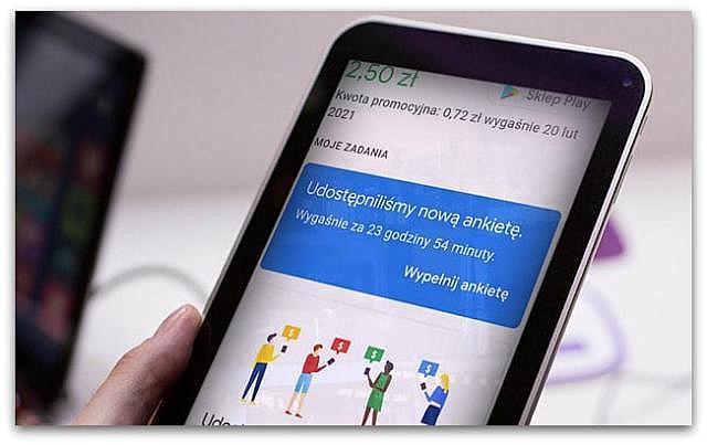"""Zarobki w aplikacji""""Premie za ankiety Google""""(wypłacalne strony, ankiety)."""