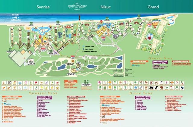Map of Moon Palace Resort