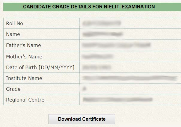 NIELIT CCC Certificate Download in Hindi
