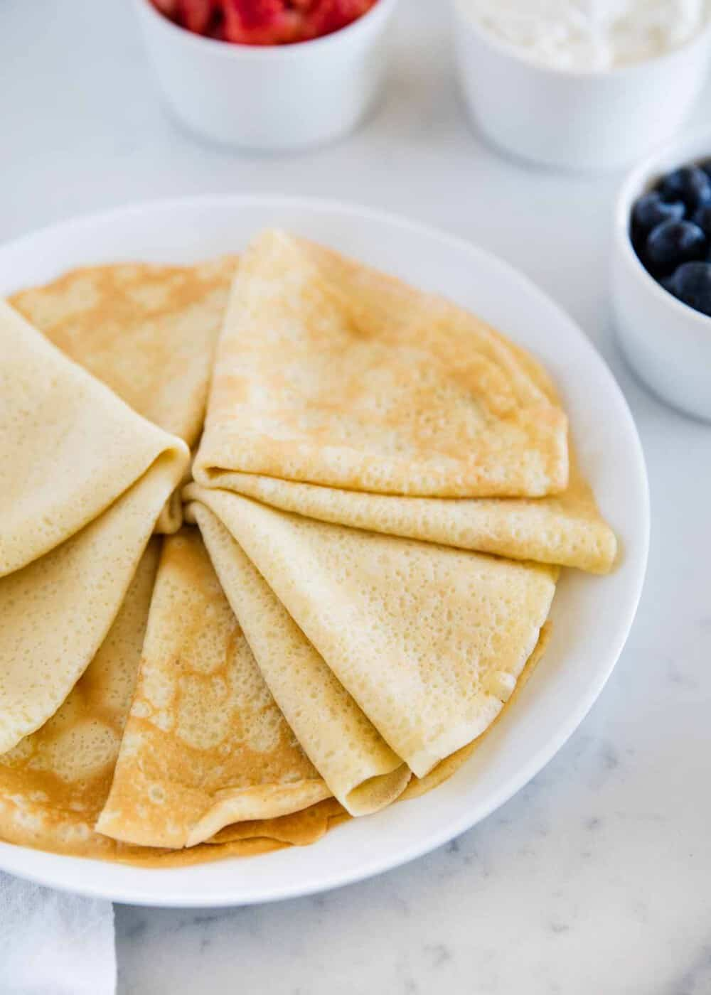 The best part about these crepes is they can be made right in your blender. Not only are they great for breakfast, but dessert too!
