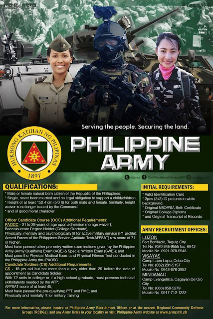 army recruitment quota 2018