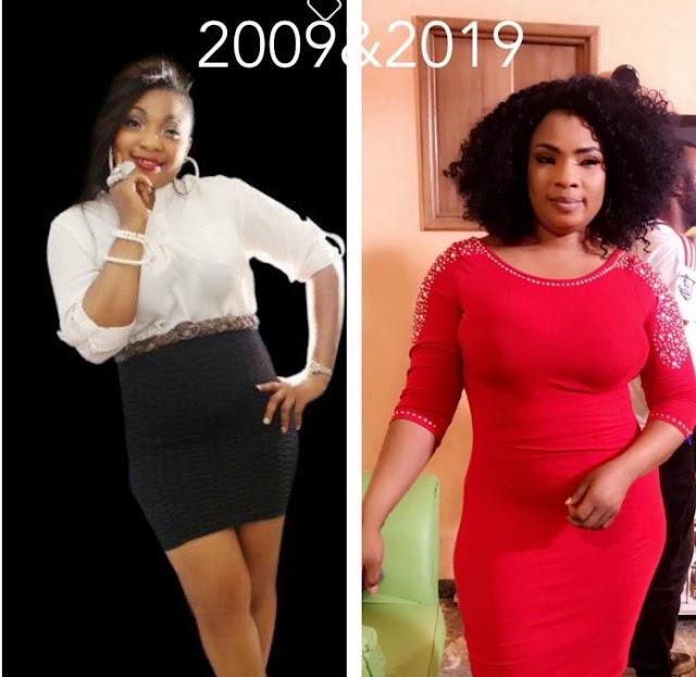 10 years challenge: Linda Ikeji, Funke Akindele, Toyin Abraham, Bobrisky, others break the Internet (photos)