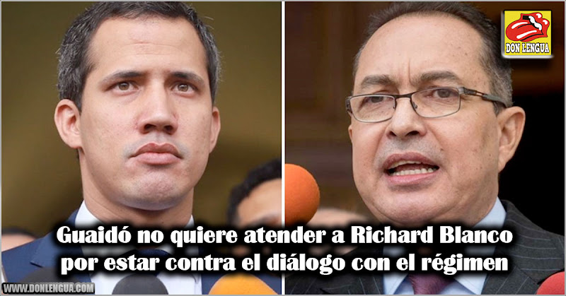 Guaidó no quiere atender a Richard Blanco por estar contra el diálogo con el régimen