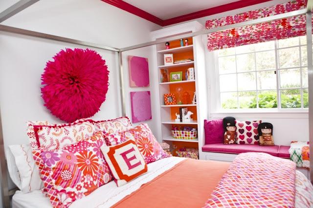 cool pink orange bedroom ideas | {Andrika King Design}
