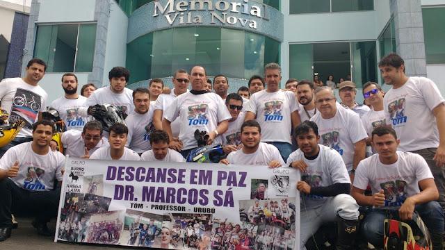 HOMENAGEM NO ÚLTIMO ADEUS A DR. MARCOS SÁ