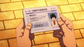 ヒーロー仮免許証 ヒロアカ 緑谷出久  かっこいい   Midoriya Izuku   デク DEKU   僕のヒーローアカデミア アニメ   僕のヒーローアカデミア My Hero Academia   Hello Anime !