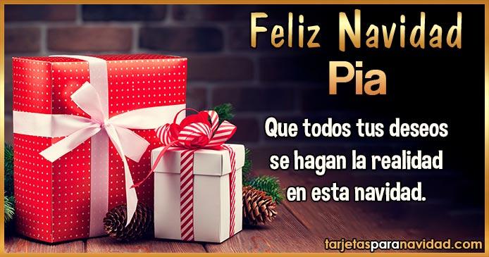 Feliz Navidad Pia