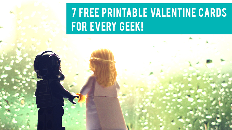 geeky, valentines, cards