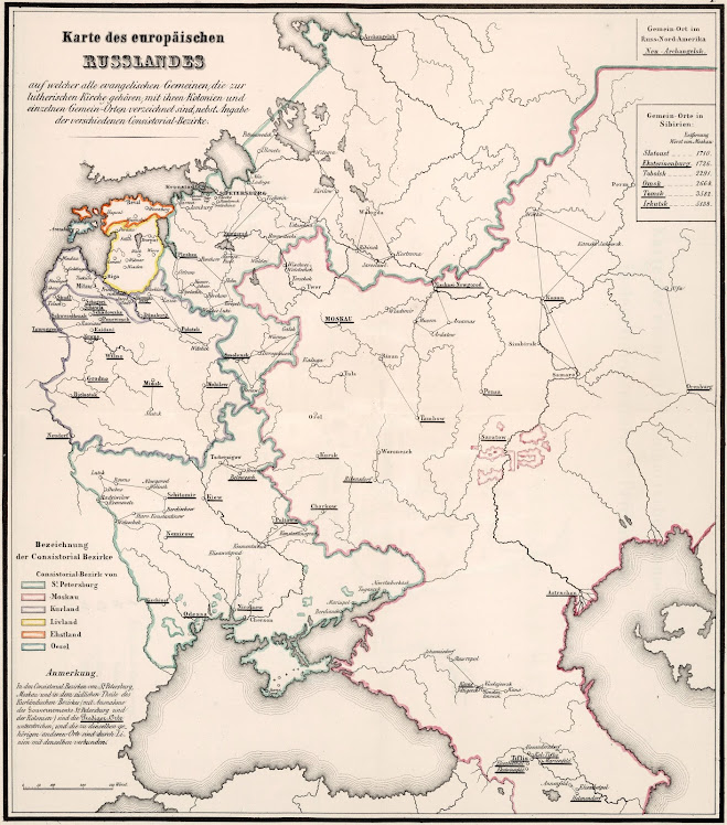 Karte des europäischen Russland (Map of European Russia)Karte des europäischen Russland (Map of European Russia)