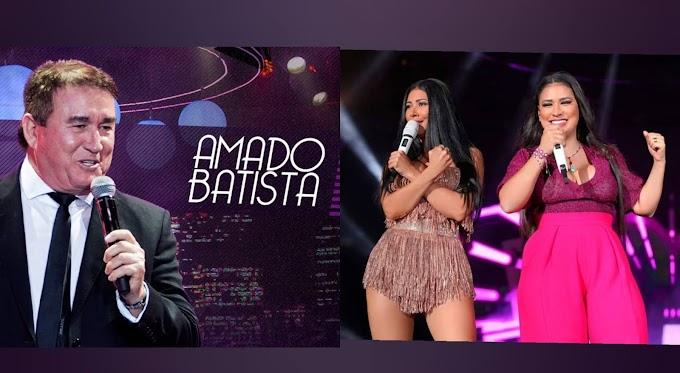 Simone e Simaria  gravam música com Amado Batista