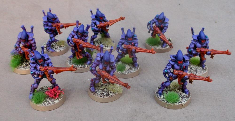 Tim's Miniature Wargaming Blog: More Eldar Guardians and
