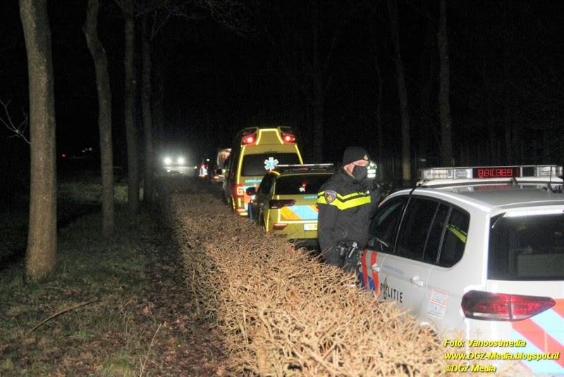 DGZ Media: Politie opzoek naar een vermiste vrouw in bos.