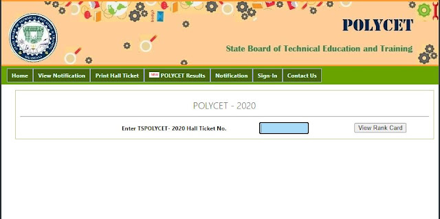 TS POLYCET Results 2020: Download POLYCET Rank Card @polycetts.nic.in