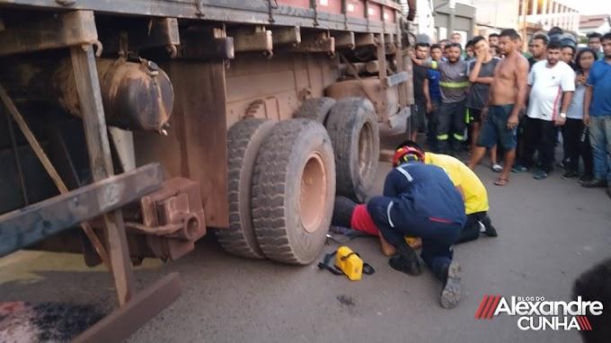URGENTE! Morre mulher que ficou presa debaixo de caminhão em Chapadinha