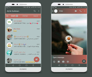 Flower & Hand Theme For YOWhatsApp & Fouad WhatsApp By Ameen