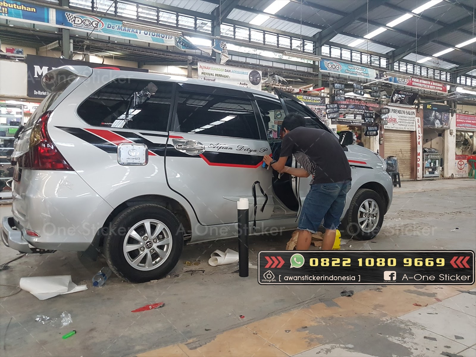 Cutting Sticker Grand New Avanza Tipe E Mobil Modifikasi Depok Jakarta