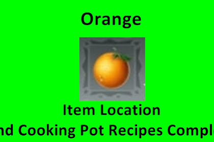 Orange Location and Cooking Pot Recipe Utopia: Origin