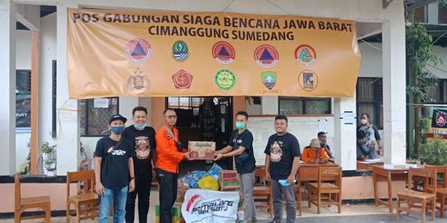 Komunitas Pemalang Bersatu Sambangi Daerah Longsor di Kabupaten Sumedang
