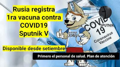 Sputnik Vacuna registrada por Rusia contra COVID19
