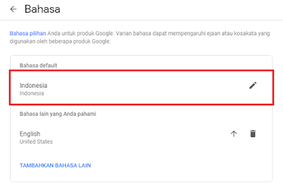 cara edit bahasa blog di dashbord di blogger 2019