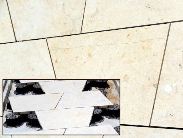 Pokládka dlažby atypického tvaru na terče Buzon