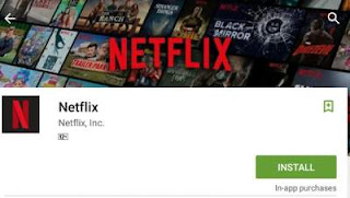 Install Netflix Android App on Play Store.