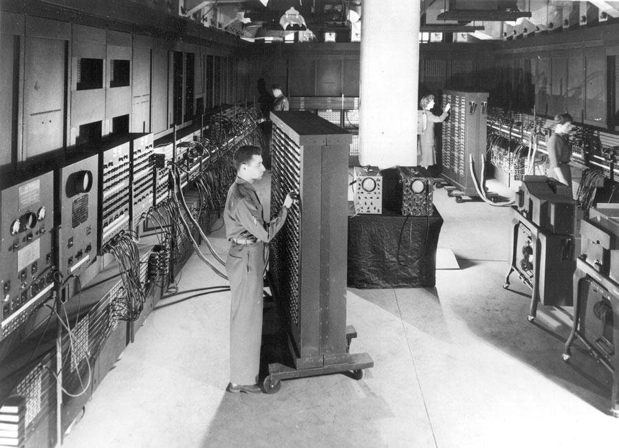 Ultimaattinen pelikone historian hämäristä, tarkemmin sanottuna ENIAC.