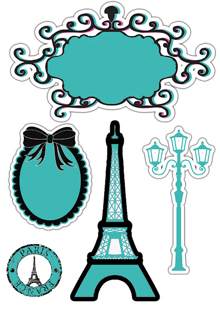 TOPO DE BOLO: Paris Tiffany