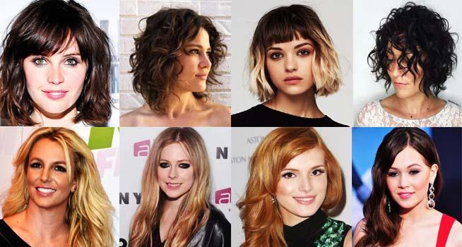 model rambut short dan long wavy hair